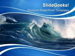 Wave Beauty PowerPoint Template 0910