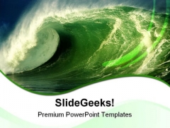 Wave Nature PowerPoint Templates And PowerPoint Backgrounds 0811