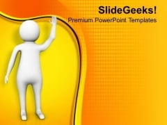 Wave Your Hand For Your Friends PowerPoint Templates Ppt Backgrounds For Slides 0613