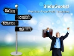 Way To Success01 Business PowerPoint Templates And PowerPoint Backgrounds 0811