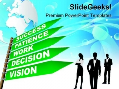 Way To Success Business PowerPoint Templates And PowerPoint Backgrounds 0811