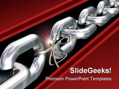 Weakest Link Business PowerPoint Template 0510