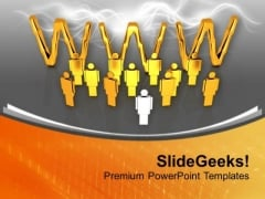 Web Partnership For Effective Cooperation PowerPoint Templates Ppt Backgrounds For Slides 0713