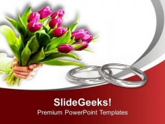 Wedding Rings Are Symbol Of Love PowerPoint Templates Ppt Backgrounds For Slides 0513