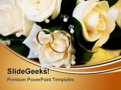 Wedding Rings Events PowerPoint Themes And PowerPoint Slides 0411