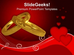 Wedding Rings Love PowerPoint Templates Ppt Backgrounds For Slides 0413