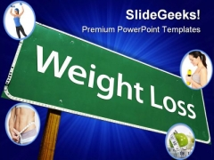 Weight Loss Health PowerPoint Templates And PowerPoint Backgrounds 0611