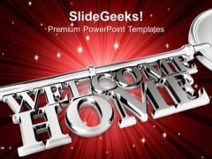 Welcome Home Real Estate PowerPoint Templates And PowerPoint Themes 0912