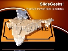 Welcome India Global PowerPoint Themes And PowerPoint Slides 0511
