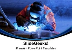 Welding Industrial PowerPoint Templates And PowerPoint Backgrounds 0711