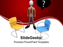 Which Job To Choose Business PowerPoint Themes And PowerPoint Slides 0511