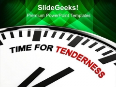White Clock With Concept Tenderness PowerPoint Templates Ppt Backgrounds For Slides 0813