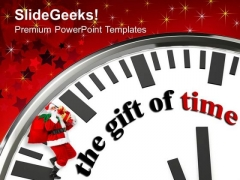 White Clock With Words The Gift Of Time PowerPoint Templates Ppt Backgrounds For Slides 1212