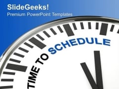 White Clock With Words Time To Schedule PowerPoint Templates Ppt Backgrounds For Slides 0413