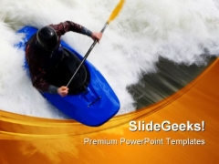 Whitewater Surfing Sports PowerPoint Themes And PowerPoint Slides 0411