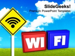 Wifi Symbol PowerPoint Templates And PowerPoint Themes 0912