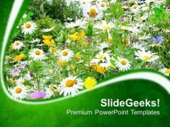 Wild Flowers With Designer Background Teams PowerPoint Templates Ppt Backgrounds For Slides 0713