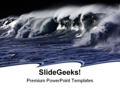 Wild Wave Beach PowerPoint Templates And PowerPoint Backgrounds 0511