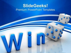 Win Cube Game Success PowerPoint Templates And PowerPoint Themes 0612