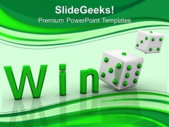 Win Cube Success PowerPoint Templates And PowerPoint Themes 0612