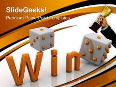 Win Dice Game Success PowerPoint Templates And PowerPoint Themes 0612