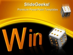 Win Dices Business Metaphor PowerPoint Backgrounds And Templates 1210