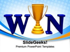 Win Trophy Cups Success PowerPoint Templates And PowerPoint Themes 0712