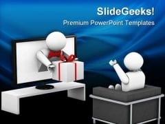 Win Tv Contest Entertainment PowerPoint Templates And PowerPoint Backgrounds 0211