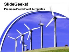 Windmills Renewable Energy Science PowerPoint Themes And PowerPoint Slides 0311
