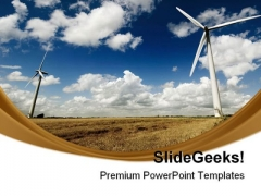 Windmills Renewable Energy Science PowerPoint Themes And PowerPoint Slides 0711