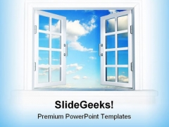 Window To Freedom Nature PowerPoint Backgrounds And Templates 0111