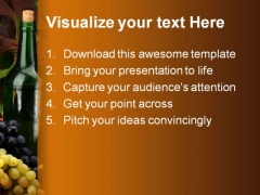 Wine01 People PowerPoint Template 0810
