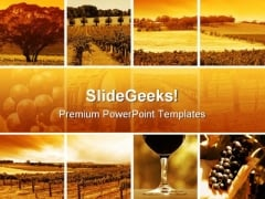 Wine Montage Nature PowerPoint Themes And PowerPoint Slides 0811