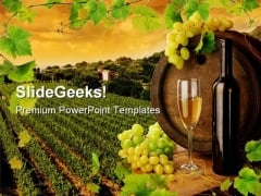 Wine Vineyard Nature PowerPoint Template 0810