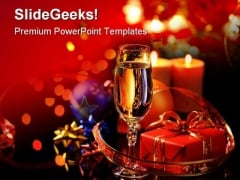 Wineglass Champagne Festival PowerPoint Templates And PowerPoint Backgrounds 0411
