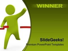 Winner Business PowerPoint Template 1110