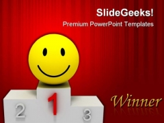 Winner Smile Success PowerPoint Templates And PowerPoint Backgrounds 0811