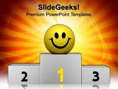 Winner Smiley Leadership PowerPoint Templates And PowerPoint Themes 0912