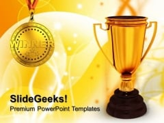 Winner Trophy Success PowerPoint Templates And PowerPoint Themes 0712