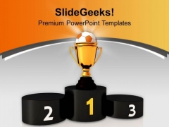 Winners Podium Soccer Ball Competition PowerPoint Templates Ppt Backgrounds For Slides 0413