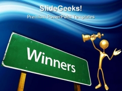 Winners Success PowerPoint Themes And PowerPoint Slides 0811