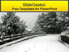 Winters Road PowerPoint Templates