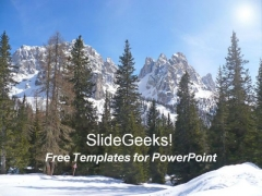 Beautiful Mountains PowerPoint Templates