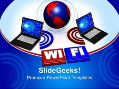 Wireless Laptop Computer PowerPoint Templates And PowerPoint Themes 0612
