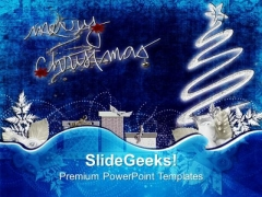 Wish Merry Christmas To All Your Friends PowerPoint Templates Ppt Backgrounds For Slides 0613