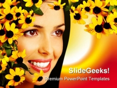 Woman Face Beauty PowerPoint Templates And PowerPoint Backgrounds 0211