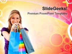 Woman With Shopping Bags Lifestyle PowerPoint Templates And PowerPoint Backgrounds 0311