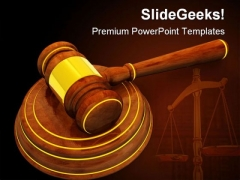 Wooden Gavel Law PowerPoint Templates And PowerPoint Backgrounds 0411