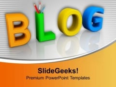 Word Blog With Pencils Education Discussion PowerPoint Templates Ppt Backgrounds For Slides 1212