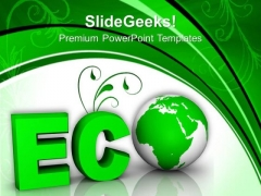 Word Eco Globe And Tree PowerPoint Templates Ppt Backgrounds For Slides 0113